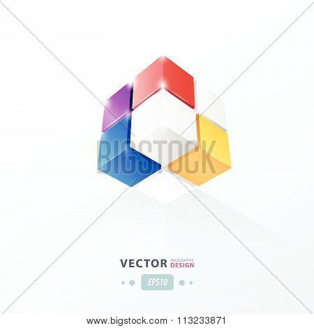 Cube Worm View  Pink, Blue, Orange, Purple Color