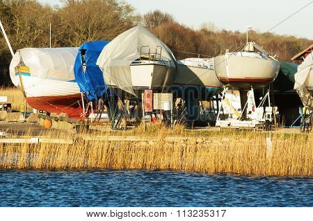 Boats In Winter Storage