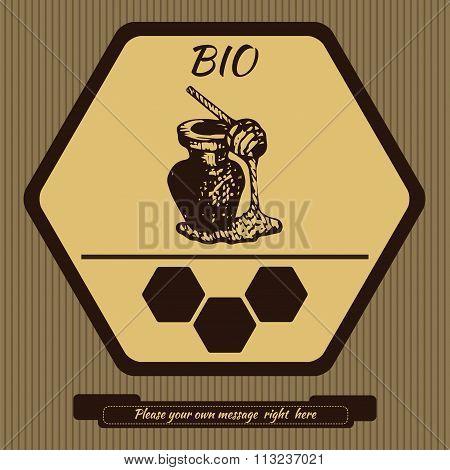 Logo for advertising honey 2
