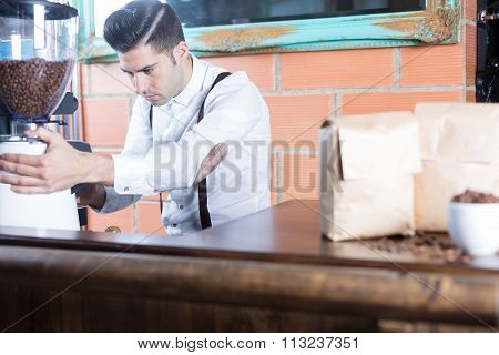 Bartender Working