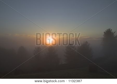 Foggy Mountain Sunrise