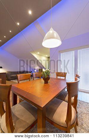 Apartment In The Attic , Dining Area Design