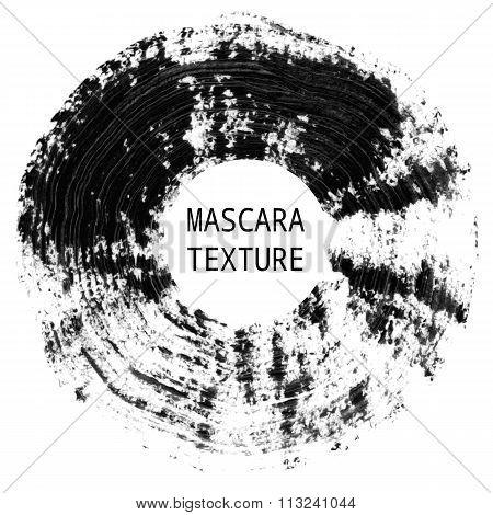 Mascara texture. Decorative artistic element.