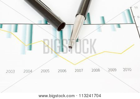 Stock Market Graphs With Pen