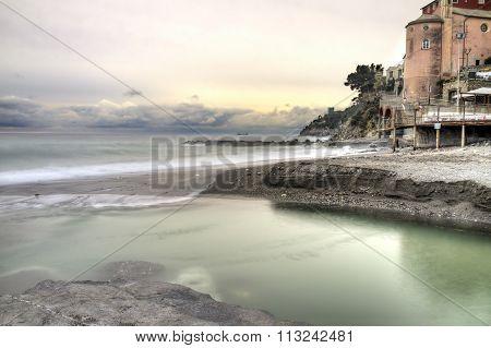 Sori (Genoa) panorama. Color image