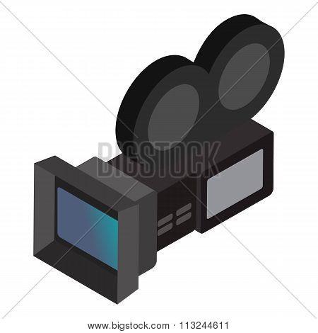 Movie camera isometric 3d icon