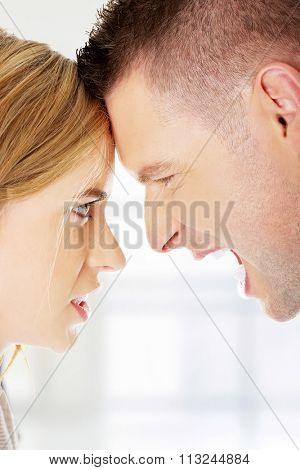 Young couple having an argue