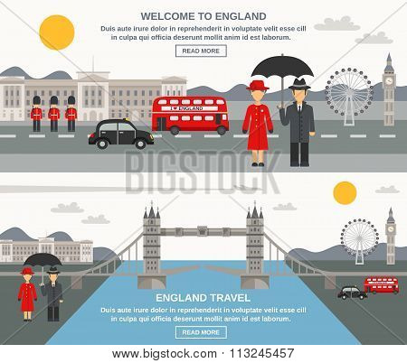 Englad Culture 2 Flat Banners Set