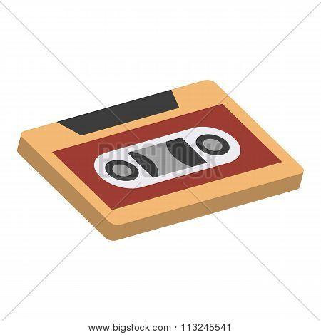 Cassettes isometric 3d icon