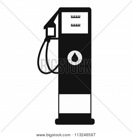 Black gasoline petrol flat icon