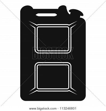 Black canister flat icon