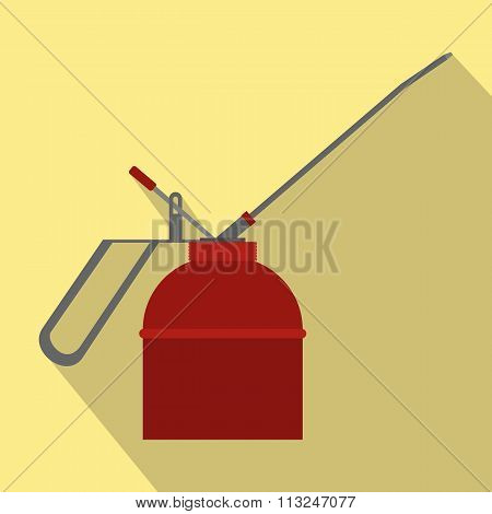 Fire extinguisher flat icon with shadow