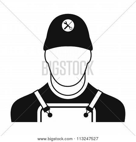 Builder black simple icon