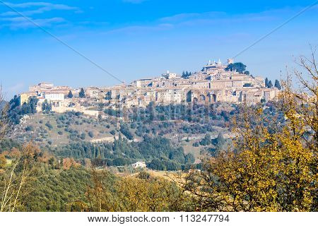 View Of Amelia, Old Town In Umbria. Italy.