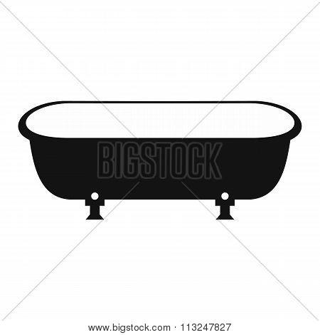 Bathtub black simple icon