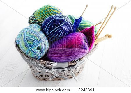 lots of colorful wool - needlecraft