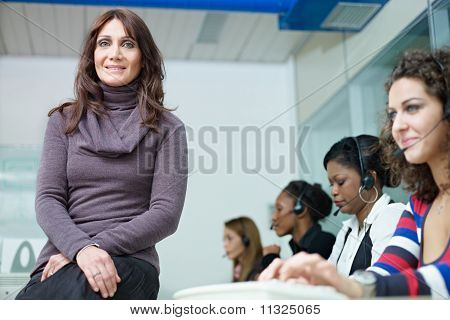 Frauen in Call-center
