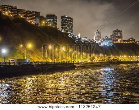Lights of la Costa Verde (Green Coast) at Night