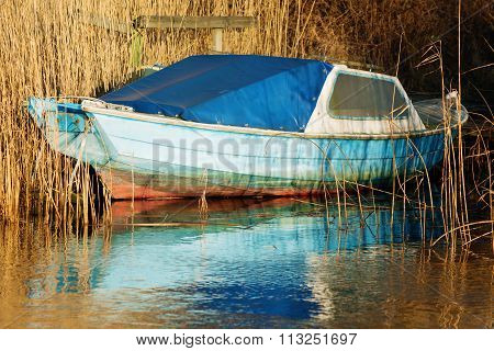 Old Blue Boat