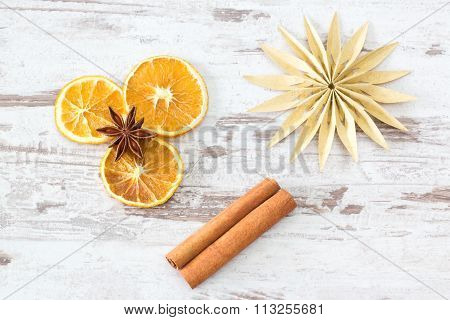 Christmas Spices With Paper Star