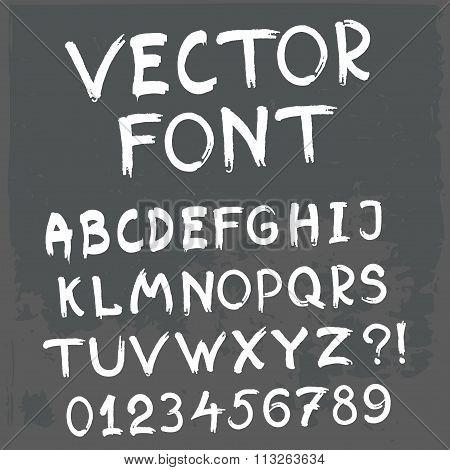 Vector Grunge Font