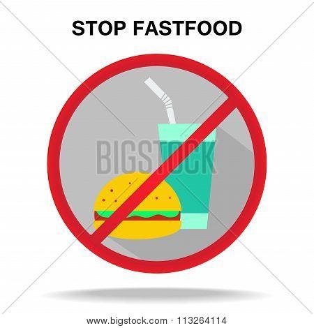 Fastfood Prohibitory Sign