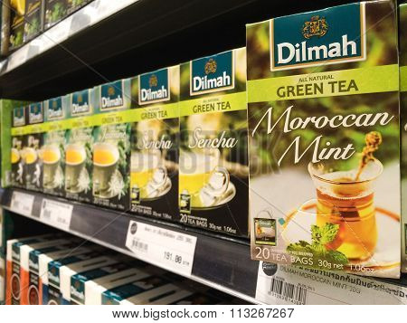 Bangkok, Thailand - November 11, 2015: Tea Brands 'dilmah' On Shelf In Store. Dilmah Is A Brand Of C