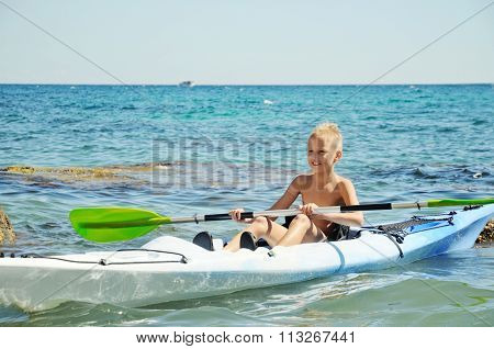 Boy On The.kayak
