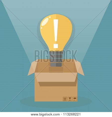 Light bulb outside the box