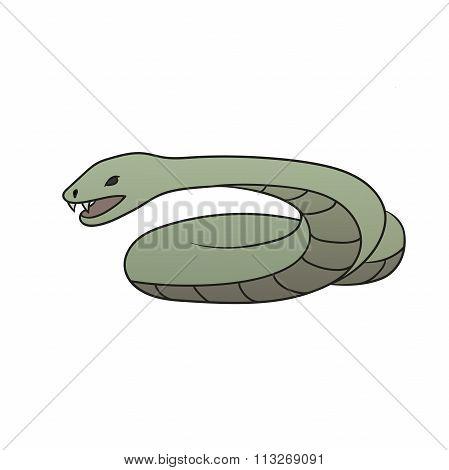 Green Cartoon Snake