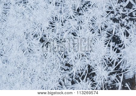 Spiky snow ice crystals