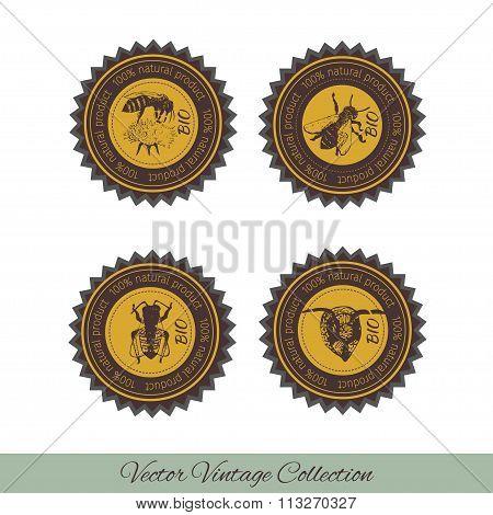 Set of labels for honey 1