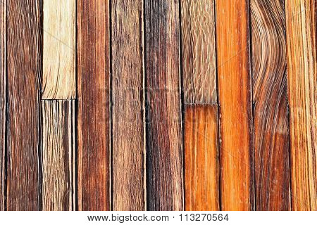 Closeup of weathered wood barn siding.