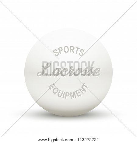 White Lacrosse ball.