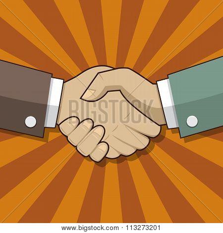 Partnership handshake sign