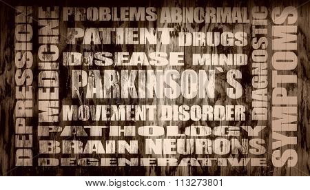Parkinsons Syndrome Relative Glowing Words List