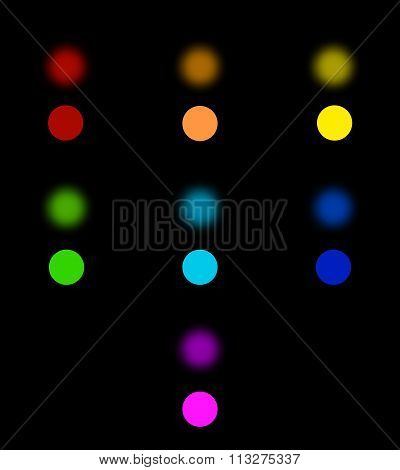 Set Abstract bokeh background. Vector