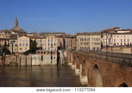 Albi, Bridge Over The Tarn River, France