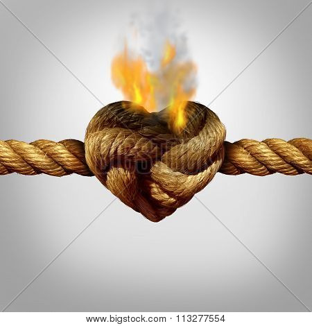 heart rope burning