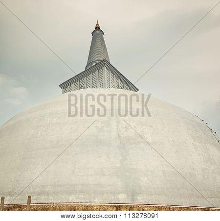 Ruwanwelisaya dagoba in the sacred world heritage city of Anuradhapura, Sri Lanka
