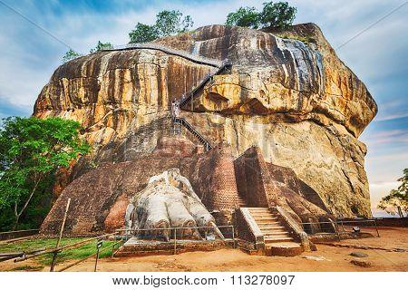 World Heritage Site Sgiriya or Lion rock. Panorama