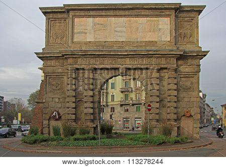 ancient Porta Romana in Milan