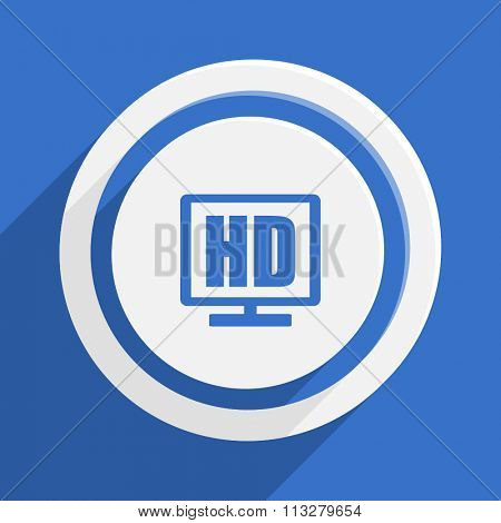 hd display blue flat design modern vector icon for web and mobile app