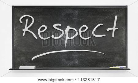 respect written on blackboard