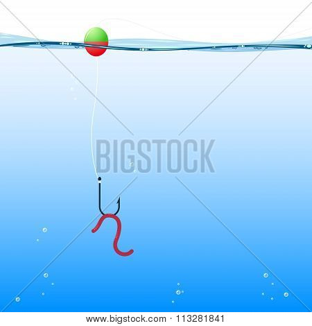 background fishing, vector