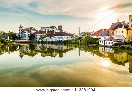 View Of Jindrichuv Hradec Castle-czech Republic