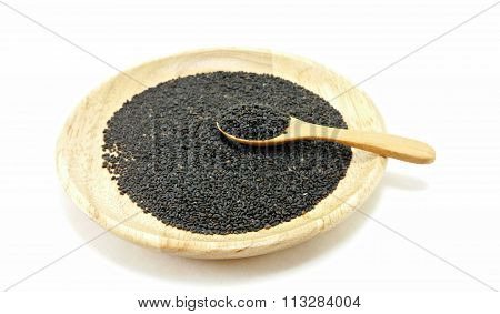 A Spoon Full Of Hoary Basil Seed
