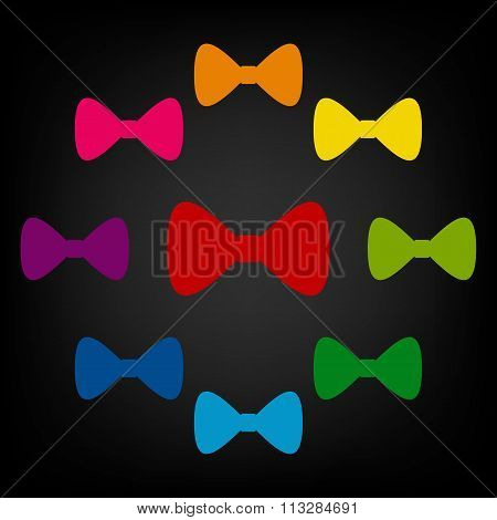 Vector Black Bow Tie icon