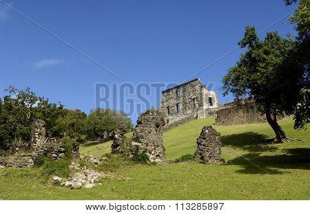 Picturesque Dubuc Castle In Martinique