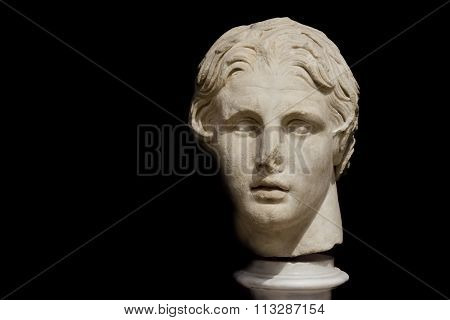 Bust Of Alexander The Great at Istanbul Archeology Museum, Turkey